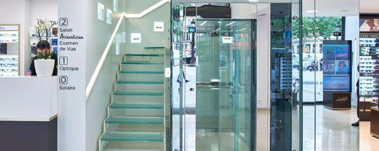 porte automatique vitree pour ascenseur
