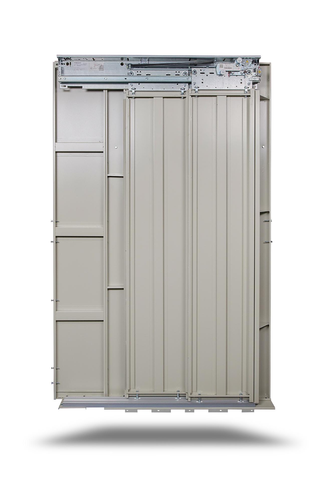 Sd 20 une porte d 39 ascenseur silencieuse solide et fiable slycma - Porte coulissante silencieuse ...