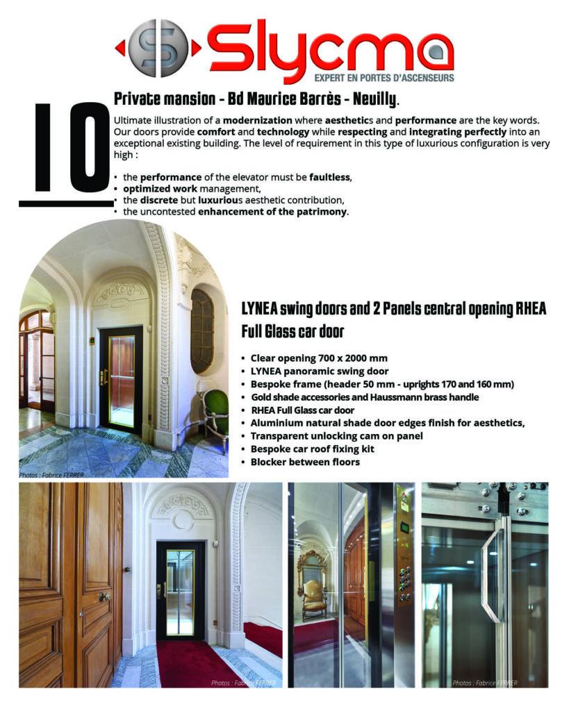 elevator doors for modernization