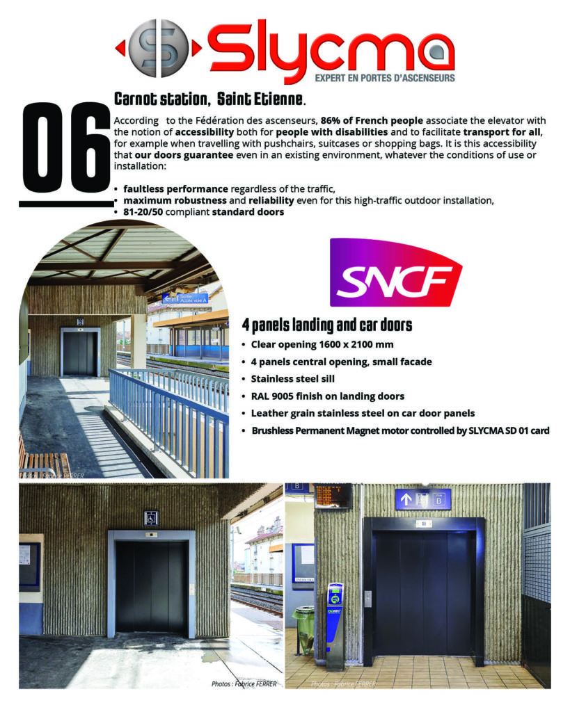 Lift doors accessibility public places