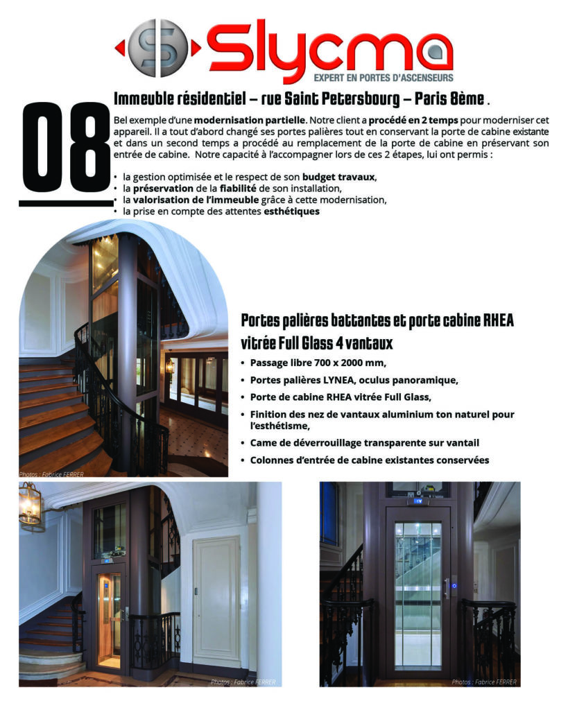 modernisation de portes d'ascenseurs