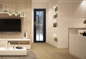 motorised swing door installed on a home lift