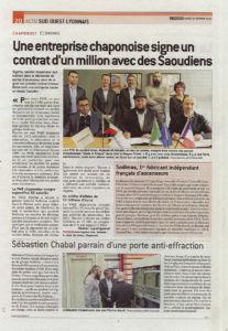 Article du Progrès Lyon Sud Ouest du samedi 24 février